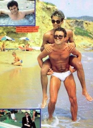 George Michael and Andrew Ridgeley of wham