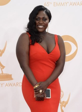 Plus Size Celebrities Fashion Style - Danielle Brooks - 2013 emmys - david meister dress