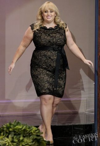 Plus Size Celebrities Fashion Style - rebel wilson - tadashi - tonight show with jay