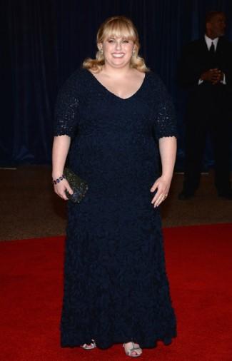 Rebel Wilson Plus Size Fashion - Theia at the 2013 White House Correspondents Dinner