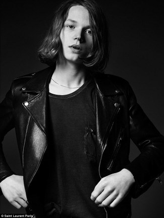 Saint Laurent leather jacket - jack kilmer