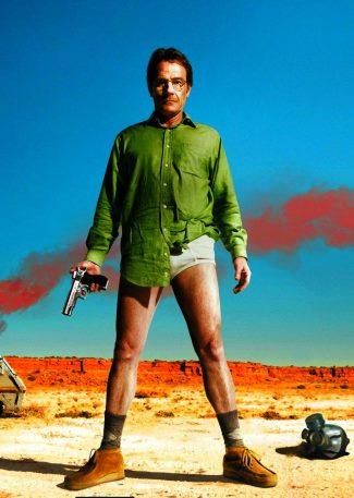 actors in tighty whitie underwear - bryan cranston - breaking bad
