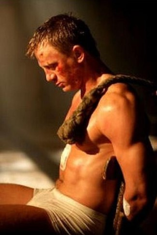 actors in tighty whitie underwear - daniel craig - james bond - casino
