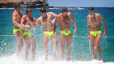 australian-water-polo-players - James Clark Billy Miller Aaron Younger Richie Campbell and Thomas Wahlan