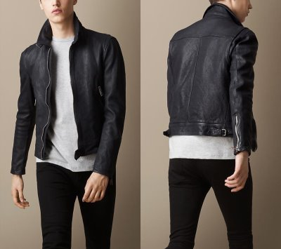 burberry brit Leather Jacket with Buckled Throat Latch3