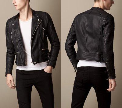 burberry brit washed leather biker jacket - 2014-2015-3