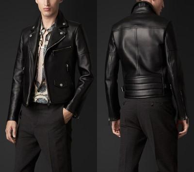 burberry leather biker jacket - fall 2014 - winter 2015-3