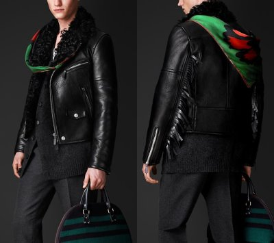 burberry leather jacket - fall winter 2015 - shearling lined leather jacket-3