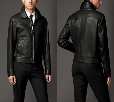 burberry london leather jacket - lambskin blouson3