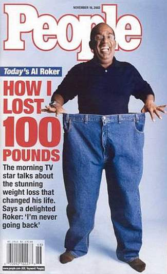 celebrity gastric bypass - al roker before and after photos