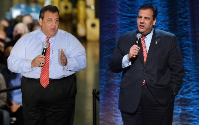 celebrity gastric bypass surgery - chris christie before and after photos - 2012 and 2014