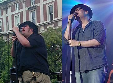 celebrity gastric bypass surgery - john popper before and after photos