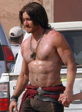 jake gyllenhaal sculpted body prince of persia - body building