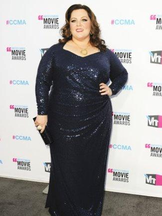 melissa mccarthy plus size fashion - david meister -  2012 Critics Choice Awards