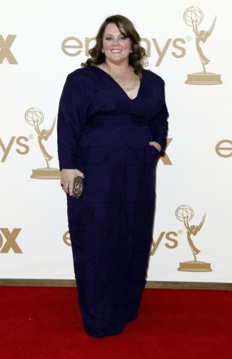 melissa mccarthy self designed gown with daniela kurrle - 2011 emmys