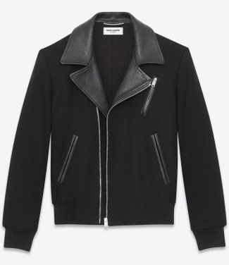 made in italy leather jacket of real leather by saint laurent leather