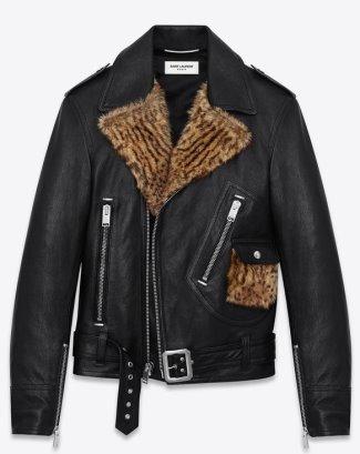 saint laurent genuine leather jacket