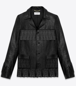 saint laurent leather jacket men - classic curtis jacket in black leather