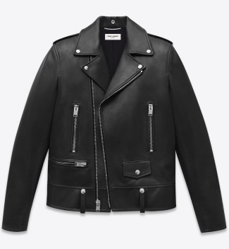 saint laurent leather jacket made in italy
