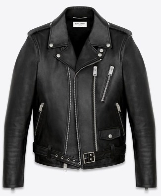 made in italy genuine leather jacket by saint laurent