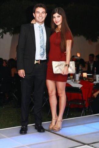 sergio perez girlfriend 2014 - andrea campillo vivanco