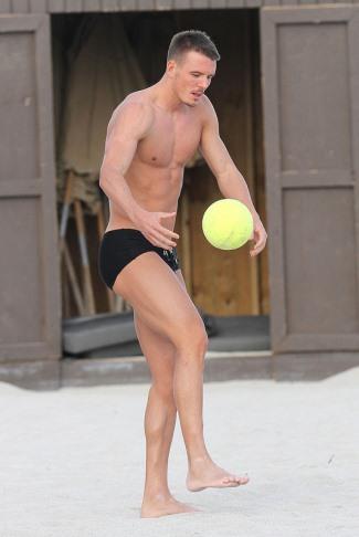 handsome german men - footballer Alexander Meier speedo