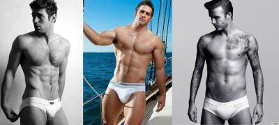 sports briefs underwear - male athletes in white briefs