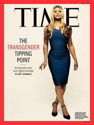 transgender fashion - la verne cox - herve leger bandage dress - time magazine
