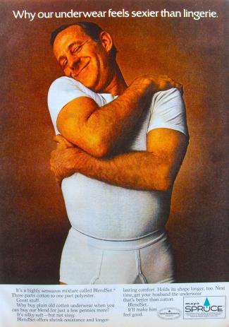 vintage mens underwear - mayo spruce