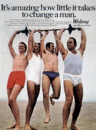 vintage underwear for men - wolsey briefs and boxer shorts