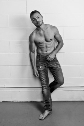 andrew hayden smith shirtless in jeans