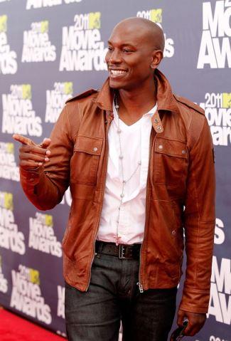 celebrities wearing belstaff leather jacket - Tyrese-Gibson-Belstaff-Leather-Jacket-brown