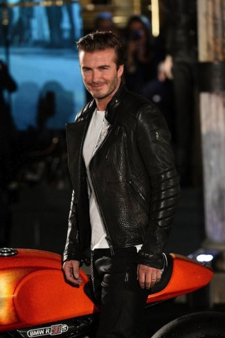 celebrities wearing belstaff leather jackets - Belstaff Kendal Black Leather Jacket for david beckham
