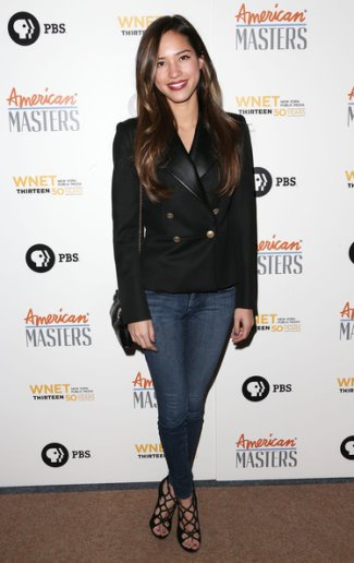 celebrities wearing salvatore ferragamo leather jacket - kelsey chow - Wool Jacket With Fur - Leather Lapel