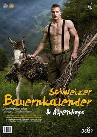 hot farmers calendar hunks - shirtless swiss calendar male models