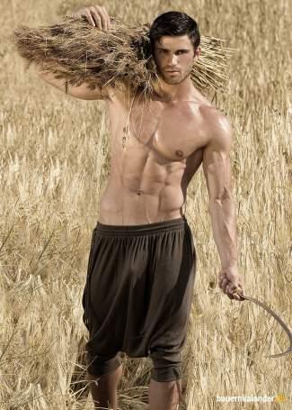 hot farmers calendar with no shirt