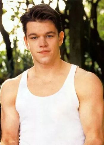matt damon young muscles