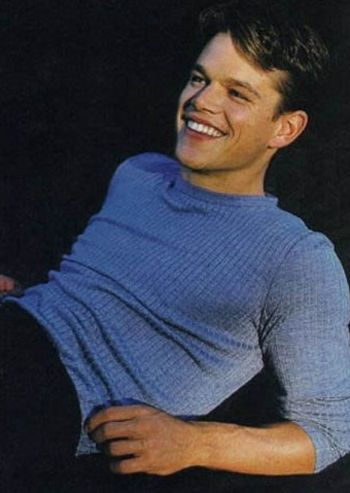 matt damon young tight shirt