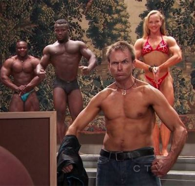 phil keoghan shirtless - bodybuilding challenge