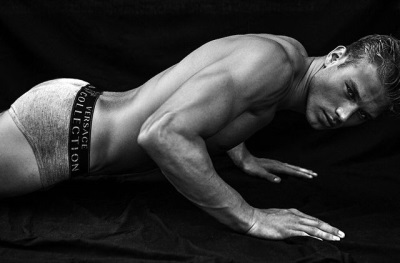 constuction hunk 2015 - Matthew Noszka - versace briefs