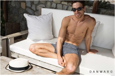 mens beach shorts 2015 - Celso Carvalho in DANWARD cruise 2015 campaign