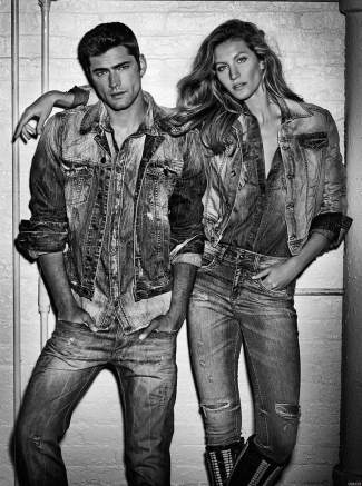 mens denim jacket 2015 - sean o pry with gisele - Colcci Fall Winter 2015 Campaign
