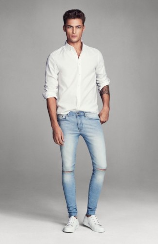 best mens jeans 2015 - Harvey Haydon Models Super Skinny Denim Jeans for HM