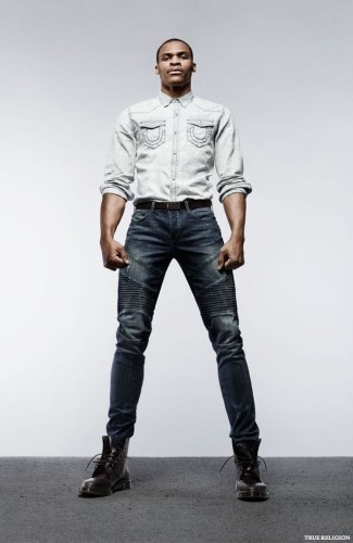 mens jeans 2015 - Oklahoma City Thunder player Russell Westbrook for True Religion