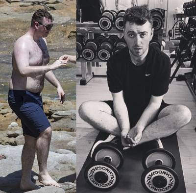 sam smith weight loss before and after photos
