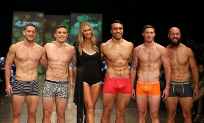all blacks underwear models - All Blacks TJ Perenara Tawera Kerr Barlow Victor Vito Gillies Kaka and DJ Forbes the runway with model Nikki Phillips