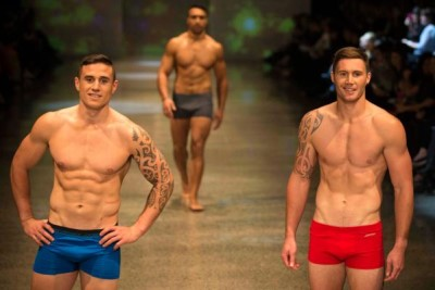 all blacks rugby underwear models - TJ Perenara and Gillies Kaka walk in front of Victor Vito