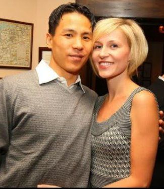 asian hockey players in the nhl - richard park and wife