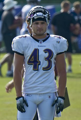 asians in nfl - Haruki Nakamura - in baltimore ravens practice uniform