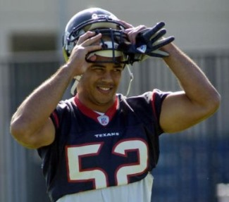 asians in nfl - kailee wong in his texans uniform